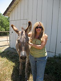 Deanne and Jasper at Return to Freedom in Lompoc, California.